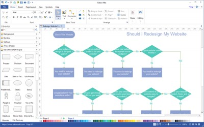 Edraw Flowchart 8 screenshot
