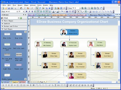 Edraw Organizational Chart 8 screenshot