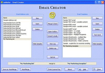 eeMailer - Email Sender 4.00.10 screenshot