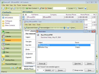 EfficientPIM 5.50.0.542 screenshot