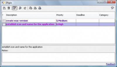 Efigio Personal Organizer 2.1.1 screenshot