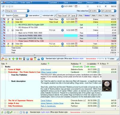 EJS TreeGrid 5.9 screenshot