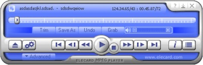 Elecard MPEG Player 6.0 screenshot