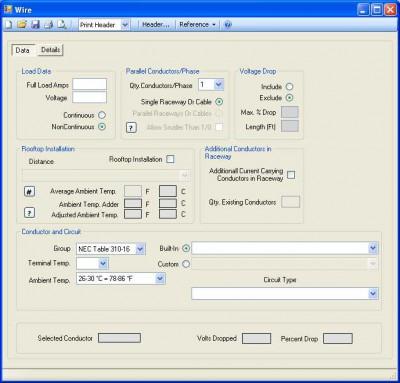 Electrc 2008 NEC Calculator 2.1 screenshot