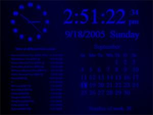 Elite Clock Screensaver ( InfoClock ) 1.5.1176 screenshot