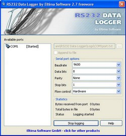 Eltima RS232 Data Logger 2.7 screenshot