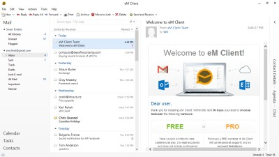 eM Client 7.2.34062 screenshot