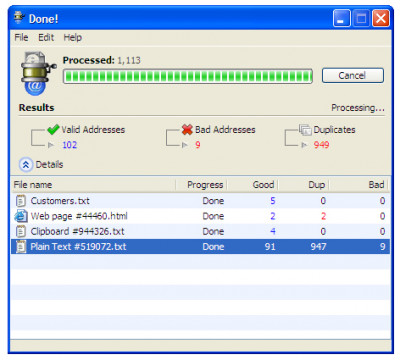 eMail Extractor 3.6.9 screenshot