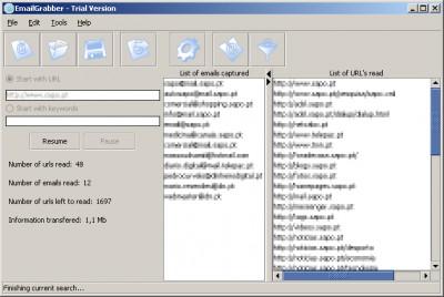 Email Grabber 1.0 screenshot