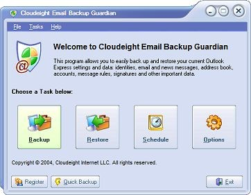 Email Guardian for Outlook Express 1.1 screenshot
