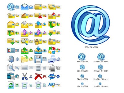 Email Icon Set 2013.2 screenshot