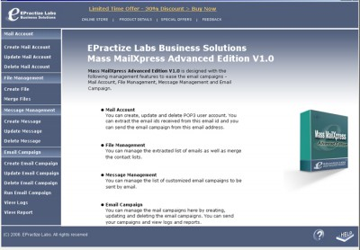 Email Marketing Software Advanced Edition 1.0 screenshot