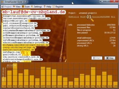 EmailSpider Gold 11.2 screenshot