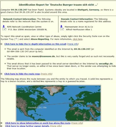 eMailTrackerPro 2005 5.0b screenshot