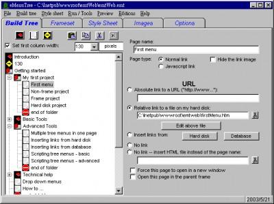 eMenutree 5.0 screenshot