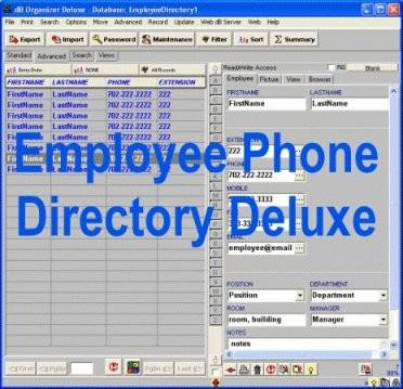 Employee Phone Directory Deluxe 4.11 screenshot
