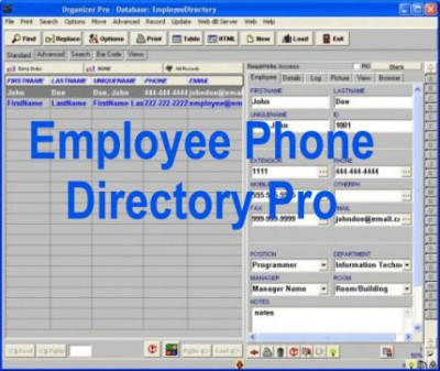 Employee Phone Directory Pro 3.2b screenshot