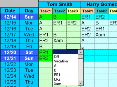 Employee Task Scheduling for One Year 1.46 screenshot