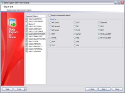 EMS Data Export for Oracle 3.3 screenshot