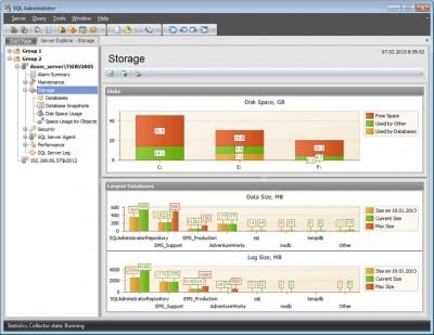 EMS SQL Administrator Free for SQL Server 2.0.0.340 screenshot