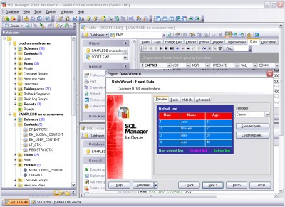EMS SQL Manager 2007 for Oracle 1.5 screenshot