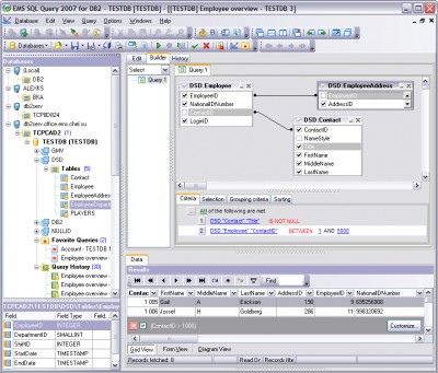EMS SQL Query 2007 for DB2 3.0 screenshot