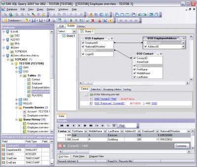 EMS SQL Query 2007 for DB2 3.0 screenshot