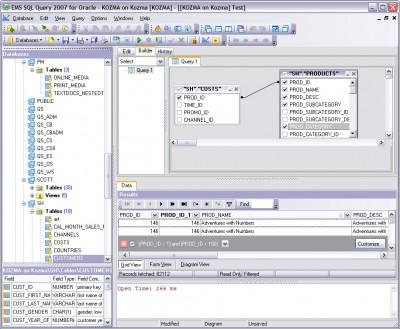 EMS SQL Query 2007 for PostgreSQL 3.0 screenshot