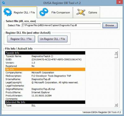 Emsa Register Dll Tool 1.2.22 screenshot