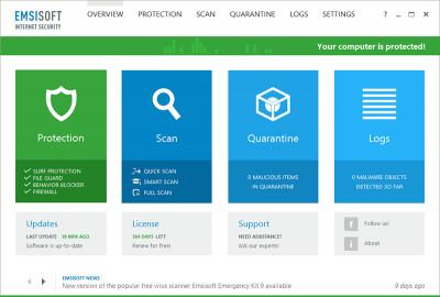 Emsisoft Internet Security 2017.7.0.7 screenshot