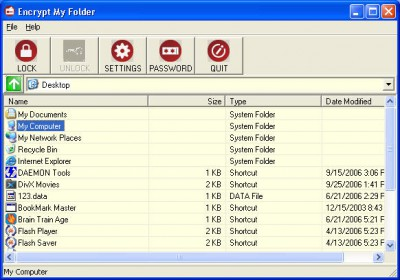Encrypt my Folder 1.2.0 screenshot