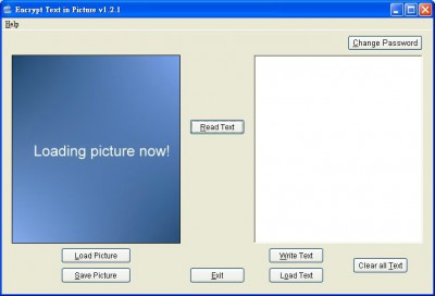 Encrypt Text in Picture 1.2.1 screenshot