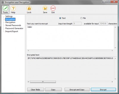 Encryption And Decryption 2.0 screenshot