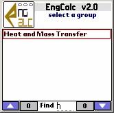 EngCalc(Heat and Mass)- Palm Calculator 2.0 screenshot