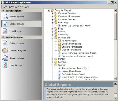 Enterprise Security Reporter 3.00 screenshot