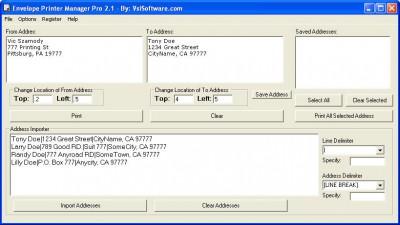 Envelope Printer Manager Pro 2.1 screenshot