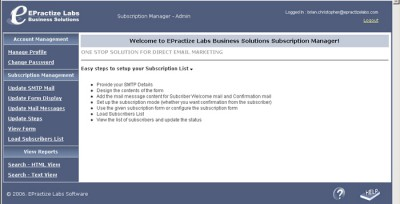 EPractize Labs Online Subscription Manager - Hosti 1.0 screenshot