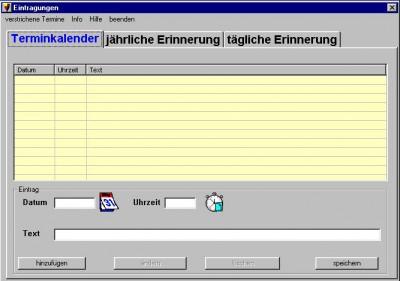 Erinnerung 1.8 screenshot