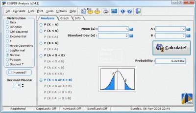 ESBPDF Analysis - Probability Software 2.4.1 screenshot