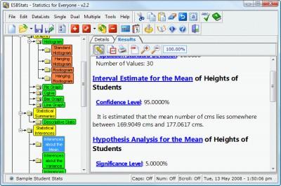 ESBStats - Statistical Analysis Software 2.2.0 screenshot