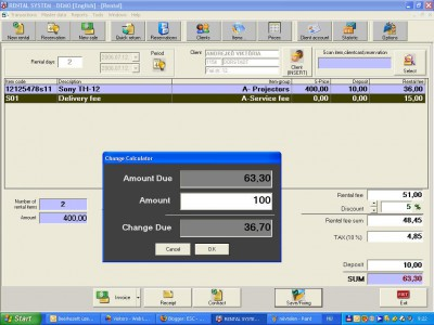 ESC Rental Software 4.13.8 screenshot