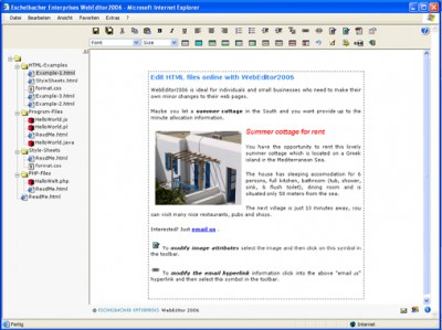 Eschelbacher Enterprises WebEditor 2009.29 screenshot