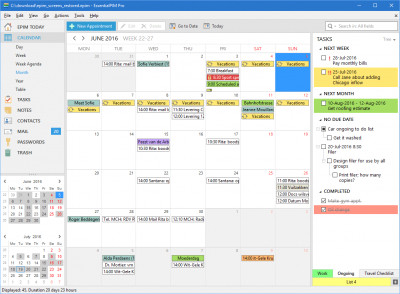 EssentialPIM Pro 8.62.1 screenshot