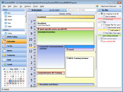 EssentialPIM 5.03 screenshot