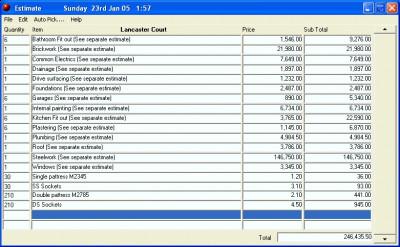 Estimate 2.02.20 screenshot