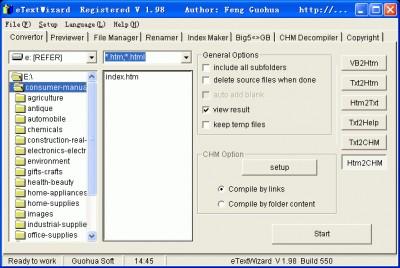 eTextWizard 2.40 screenshot