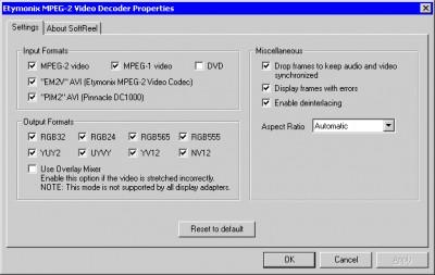 Etymonix SoftReel 2.20 screenshot