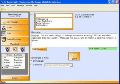 EU Comm SMS 1.5 screenshot