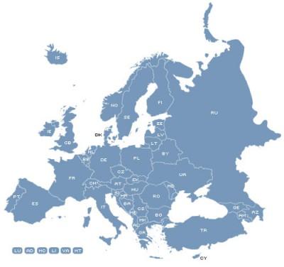 Europe Map Locator 1.6 screenshot