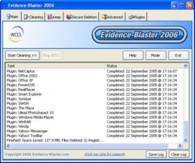 Evidence-Blaster 2010 screenshot